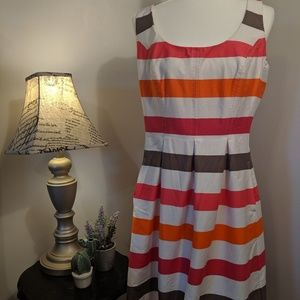 Nine West Striped Tank A-line Dress